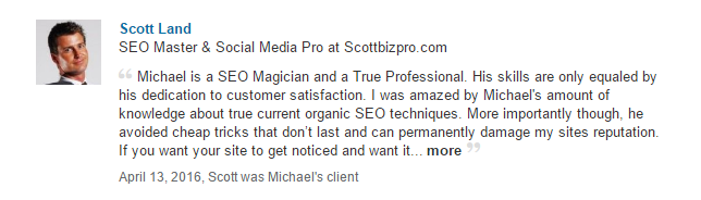 Testimonial For Michael Pilko Digital Marketing Agency